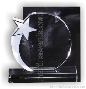 5 1/2″ x 6″ Genuine Prism Optical Crystal Glass Awards With Base 1