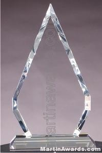 "4 3/4"" x 9"" Genuine Prism Optical Crystal Glass Awards"