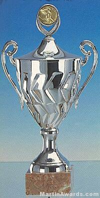 Silver Finish Trophy Cup On Marble Base 1