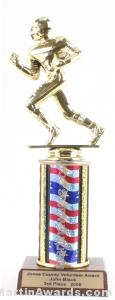 Red/White/Blue Single Column Football Trophy 1