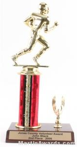 Red Single Column Football With 1 Eagle Trophy 1