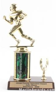 Green Single Column Football With 1 Eagle Trophy 1