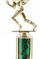 Green Single Column Football Trophy
