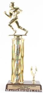 Gold Single Column Football With 1 Eagle Trophy