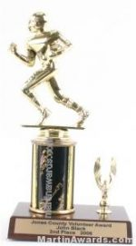 Black Single Column Football With 1 Eagle Trophy
