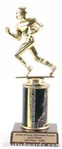 Black Single Column Football Trophy 1