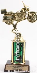 Green Single Column Road Motorcycle Trophy 1