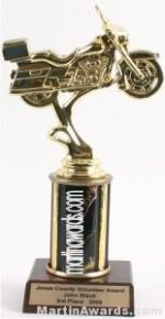 Black Single Column Road Motorcycle Trophy