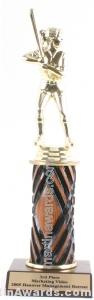 Wood Single Column Female Softball Trophy