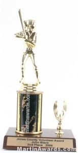 Black Single Column Female Softball With 1 Eagle Trophy 1