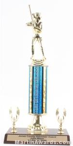 Blue Single Column Female Softball With 2 Eagle Trophy 1
