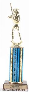 Blue Single Column Female Softball Trophy 1