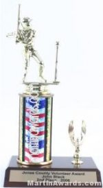 Red/White/Blue Single Column Male T-Ball With 1 Eagle Trophy