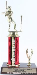 Red Single Column Male T-Ball With 1 Eagle Trophy