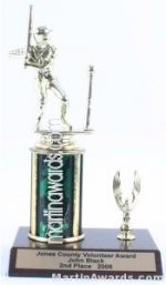 Green Single Column Male T-Ball With 1 Eagle Trophy