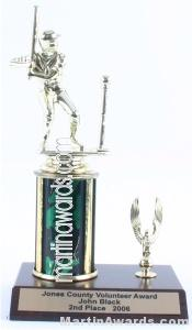 Green Single Column Male T-Ball With 1 Eagle Trophy 1