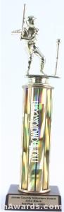 Gold Single Column Male T-Ball Trophy 1