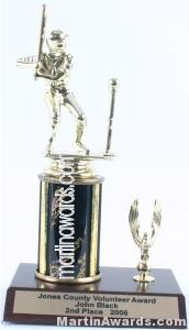 Black Single Column Male T-Ball With 1 Eagle Trophy