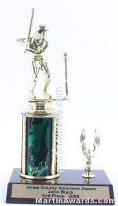Green Single Column Female T-Ball With 1 Eagle Trophy