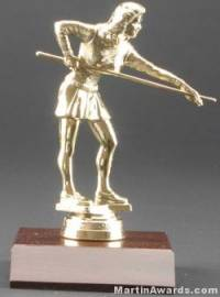 Female Billiards/Pool Trophy