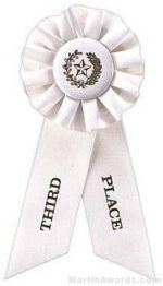 "Rosette, 8.5"", Third Place Ribbons"