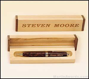 Pen Set with Maple/Walnut Box 1