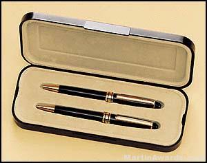 Euro Pen and Pencil Set - Black