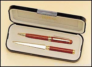 Wooden Pen and Letter Opener Set 1