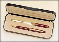 Euro Pen and Letter Opener Set with Box