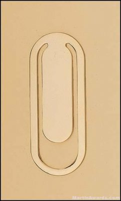 Engravable- Gold Plated Bookmark