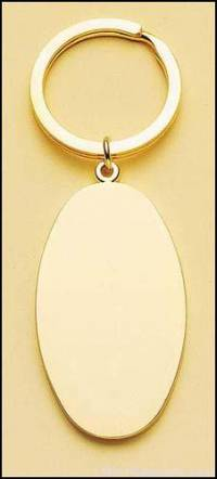 Oval Brass Key Ring