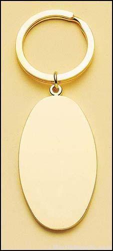 Oval Brass Key Ring 1