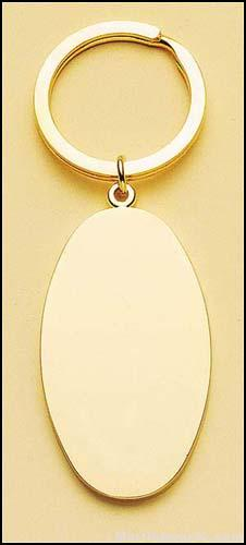 Oval Brass Key Ring 1