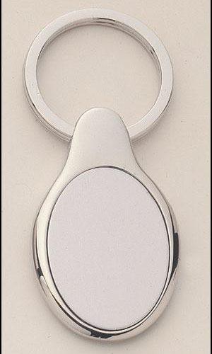 Oval Shape Silver Key Rings 1