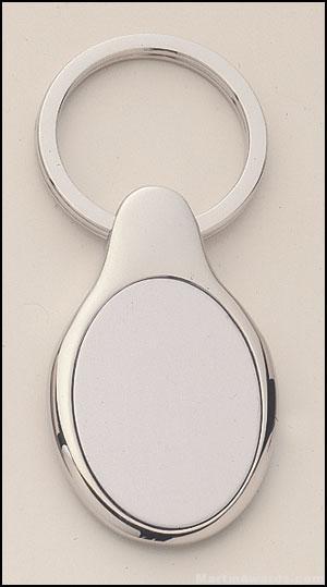 Oval Shape Silver Key Rings