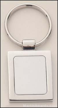 Rectangle Shape Silver Key Rings 1