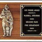 Plaque – Fireman Plaques with Cast Figure 1