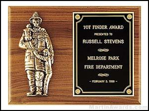 Plaque - Fireman Plaques with Cast Figure