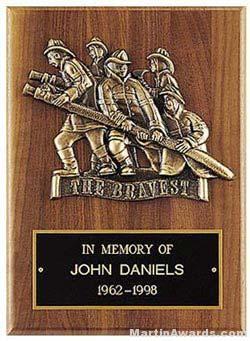 Plaque with Fireman Cast Figure 1