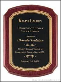 Rosewood Piano-Finish Plaques with Florentine Border