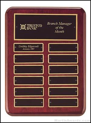 Plaque - Piano-Finish Perpetual Plaque