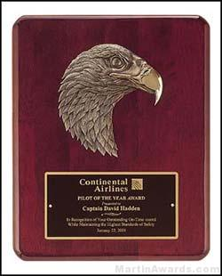 Plaque - Piano-Finish Plaques with Sculptured Antique Bronze Eagle