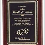 Plaque – Piano Finish Plaques with Black Florentine Border 1