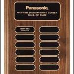 Plaque – Walnut Perpetual Plaques with Oval Plates 1