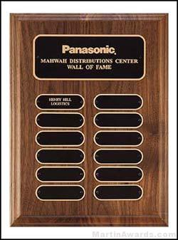 Plaque - Walnut Perpetual Plaques with Oval Plates