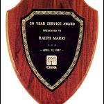 Plaque – American Walnut Plaque Shield Shape 1