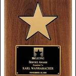 Plaque – American Walnut Plaque w/Star Casting 1