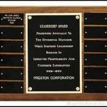 Perpetual Plaques with 12 Black Brass Plates 1
