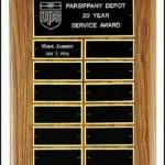 Plaque – American Walnut Perpetual Plaques with Engraving Plates 1