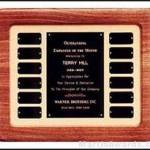 Plaque – Walnut Perpetual Plaques with 12 Ind